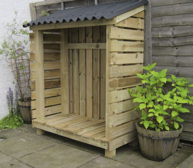 Woodkind We Make Log Stores In Glasgow Wood Store Wood Shed